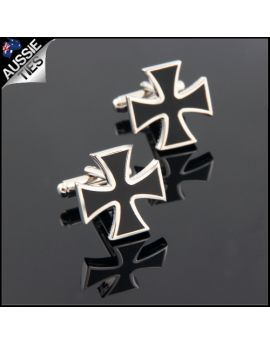 Mens Bravery in Wartime Iron Cross Cufflinks