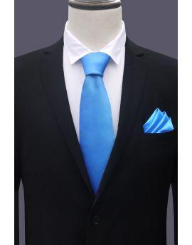 Bright blue tie