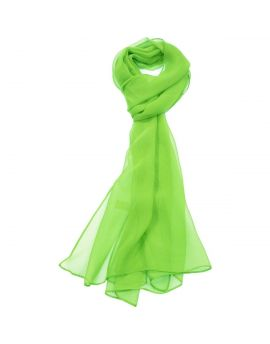 Bright Green Chiffon Scarf