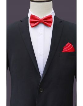 cherry red bow tie