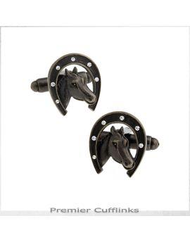Bronze Lucky Horseshoe Cufflinks