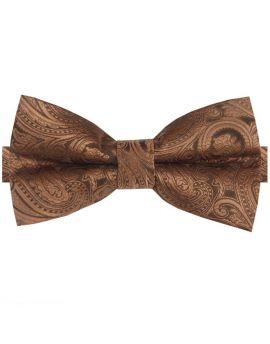 Bronze Paisley Bow Tie