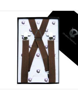 Men's Mid Brown Large Braces X2.5cm