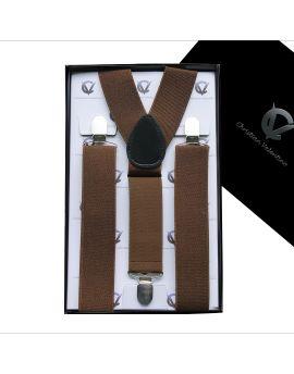 Men's Mid Brown Large Braces Y3.5cm