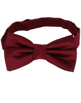 burgundy red bow tie