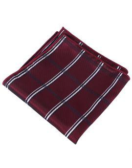 burgundy plaid design pocket square