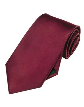 Mens Burgundy Red Extra Long Tie