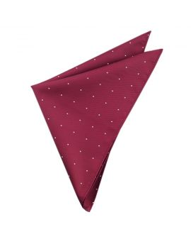 Burgundy Pin Dot Pocket Square Handkerchief