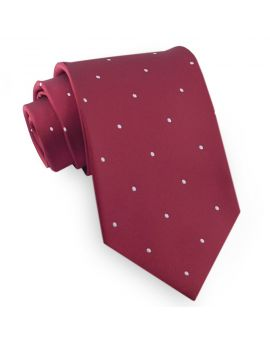 burgundy pin dot tie