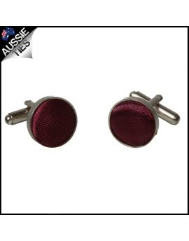 Mens Burgundy Red Cufflinks