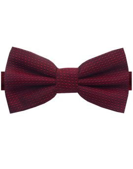 burgundy woven bow tie