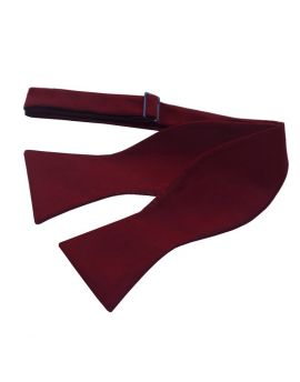 Burgundy Red Self Tie Bow Tie