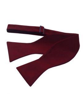 Burgundy Red Self Tie Bow Tie