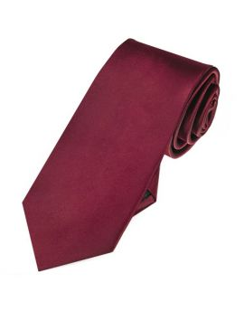 Mens Burgundy Red 7cm Slim Tie