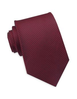 burgundy woven texture tie