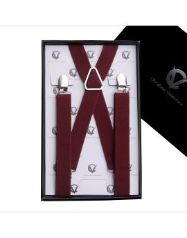 Men's Burgundy X2.5cm Large Braces