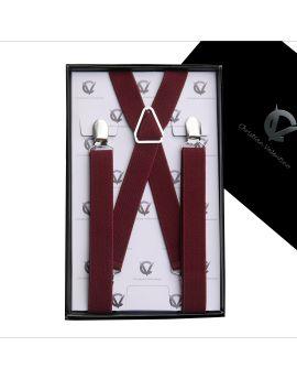 Boy's  Burgundy Braces Suspenders X2.5cm