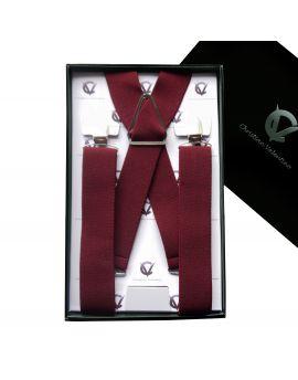 Men's Burgundy X3.5cm Braces