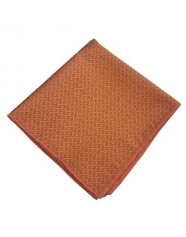 burnt orange textured pocket square