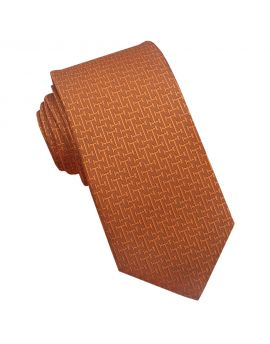 burnt orange textured tie