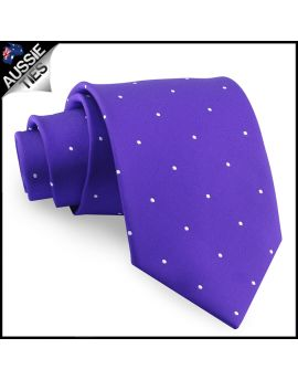 Cadbury Amethyst Pin Dot Mens Tie