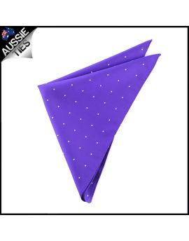 Cadbury Amethyst Pin Dot Pocket Square Handkerchief