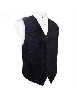 Cadbury Purple Floral & Black Waistcoat Vest