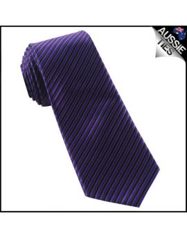 Cadbury Purple & Black Thin Stripes Mens Necktie