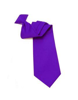 Mens Cadbury Purple Clip On Tie