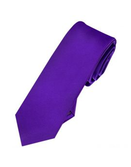 Mens Cadbury Purple Skinny Tie