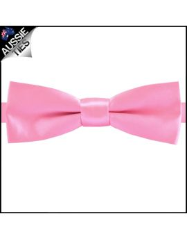 Candy Pink Slim Style Bow Tie