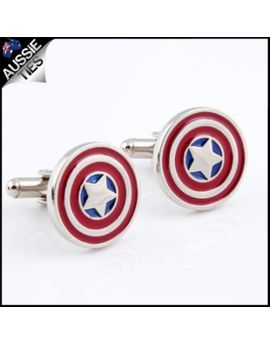 Mens Captain America Cufflinks