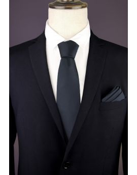 Dark Grey Tie, Charcoal Tie