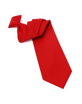 Mens Cherry Red Clip On Tie