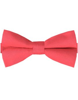 Bright Red Cotton Men's Bow Tie