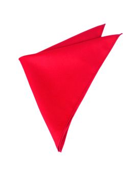 Mens Cherry Red Pocket Square