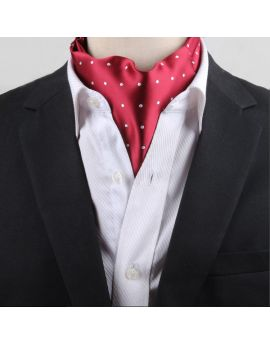 red with white polka dots ascot