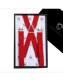 Boy's Red Braces Suspenders X2.5cm