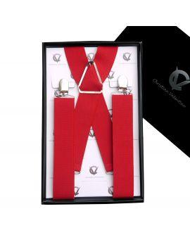 Men's Red X3.5cm Braces Suspenders