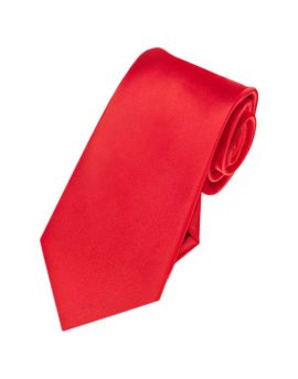bright red slim tie