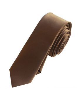 Mens Brown Skinny Tie