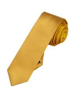 Mens Classic Gold Skinny Tie