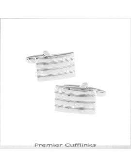 Classic Silver Bars Cufflinks