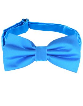 bright blue bow tie