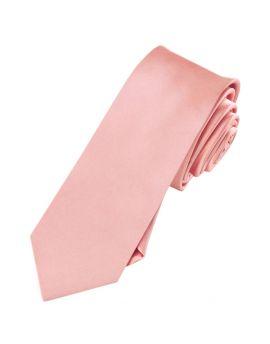 Mens Coral Salmon Skinny Tie