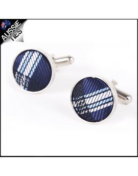 Mens Midnight Blue Plaid Cufflinks