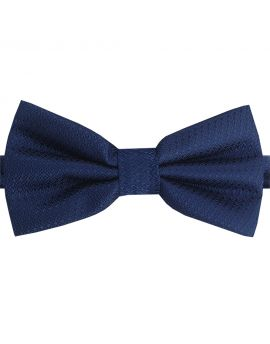 dark blue woven bow tie
