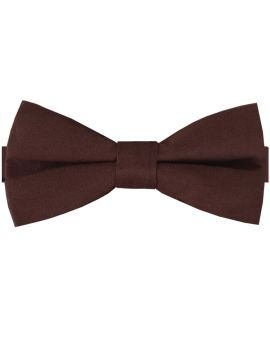 Dark Brown Cotton Men's Bow Tie