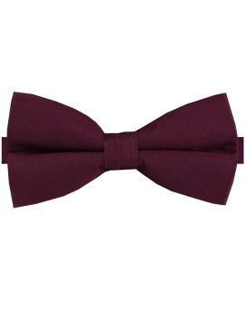 Dark Burgundy Cotton Men's Bow Tie