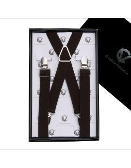 Boy's Dark Brown Braces Suspenders X2.5cm